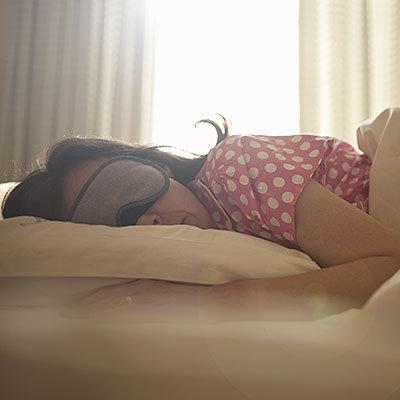 make sure you get enough sleep