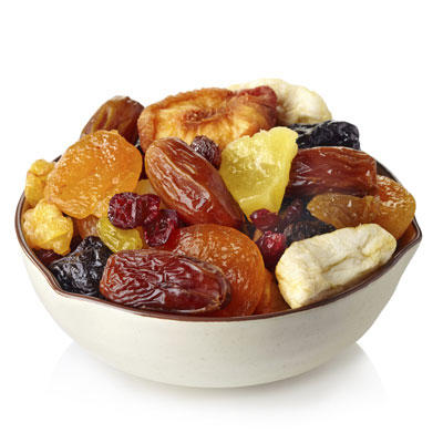 dried fruit is packed with sugar