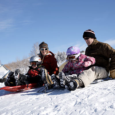 family-snow-sled