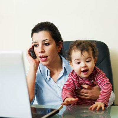 working-woman-child