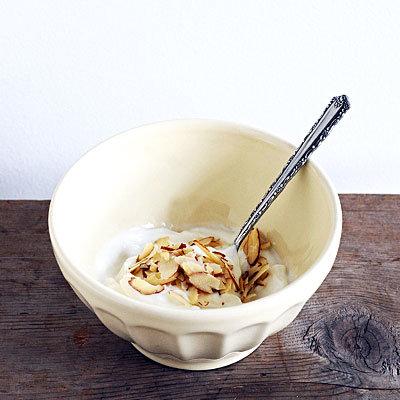 almonds-yogurt