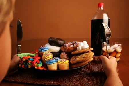Cake and soft drinks