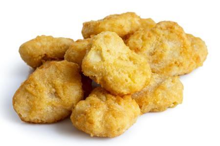 Frozen battered chicken nuggets